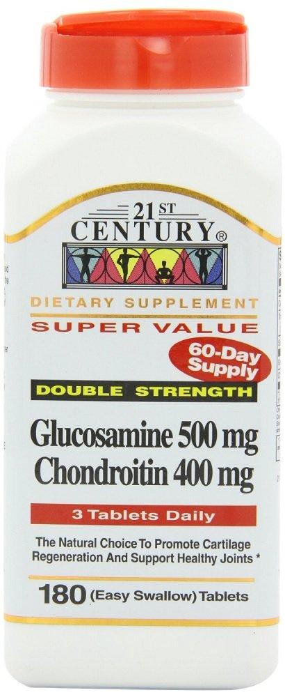 21st Century Glucosamine 500mg & Chondroitin 400mg Capsules 180 Count (2 Pack)