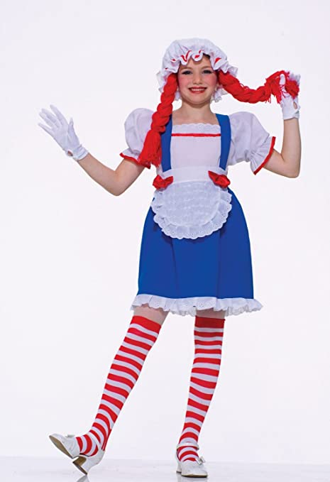 amazoncom raggedy ann rag doll kids halloween costume size small 4 6 toys games - Kids Halloween Costumes Amazon