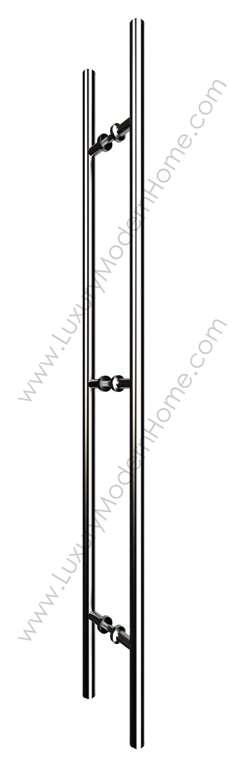 dh 48'' Ladder Style Pull Shower Handle - Wood Glass Door Stainless Steel 304 Modern Contemporary