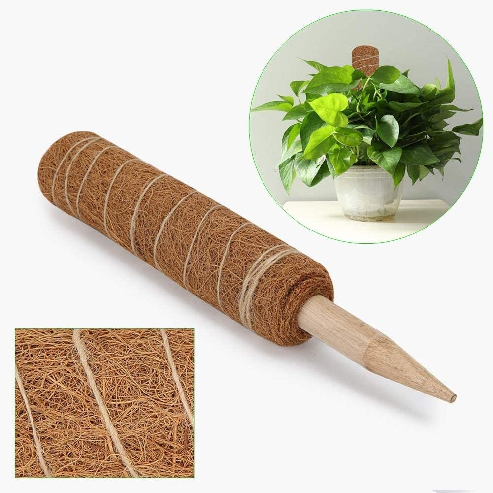Creepers 23.6inch Coir Totem Pole Natural and Organic Coir Moss Totem Pole Coir Moss Stick for Plant Support Extension Climbing Indoor Plants