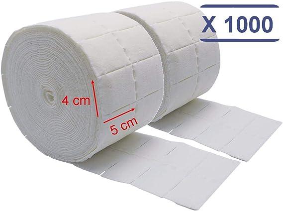 MFB Provence ® – 2 x 500 cuadrados de celulosa – Rollo de algodón para manicura: Amazon.es: Belleza