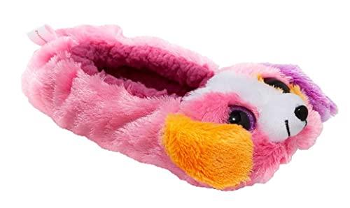 3888b7b51c2 Esquire Footwear Girls Ty Beanie Boo Hot Pink Precious Puppy Dog Ballet  Slippers (Large 4