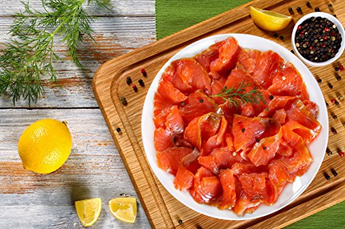 (1 X 2 Lb. (2 lb.) Smoked Salmon Nova, Small Slices. Made From Premium Quality Fully Trimmed Slices, Perfect for Salads, Sandwiches, Canapes and Much More. Ready to Eat.)