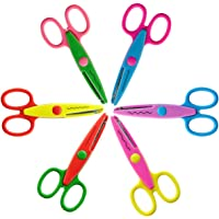 6-Piece HOMEE Safe Paper Edging Scissors Colorful Decorative Paper Edge Scissor for Kids