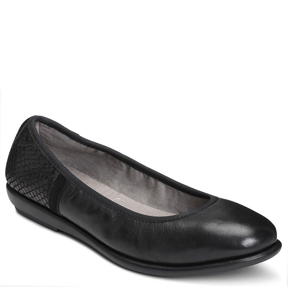 Aerosoles Women's Better Yet Ballet Flat B074QSJB3S 9.5 W US|Black Leather