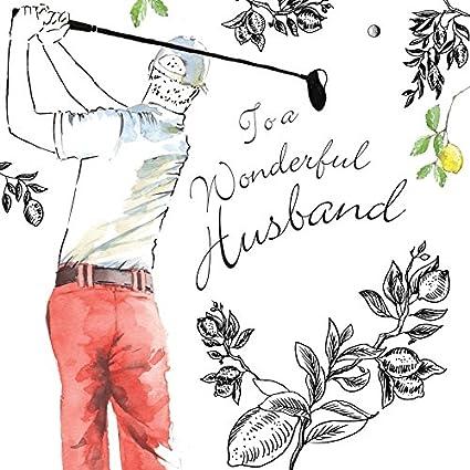 Tarjeta de feliz cumpleaños Twizler para maridos en color ...