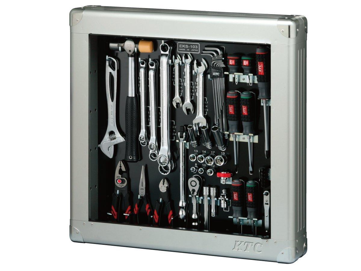 KTC 工具セット(薄型収納メタルケースタイプ) SK3568SS