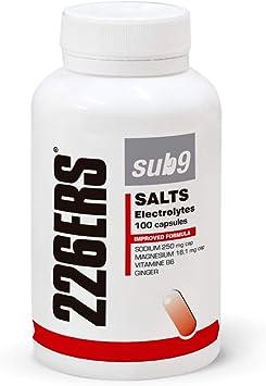 226ERS Sub9 Salts Electrolytes, Sales Minerales con Vitaminas y Jengibre - 100 cápsulas: Amazon.es: Salud y cuidado personal