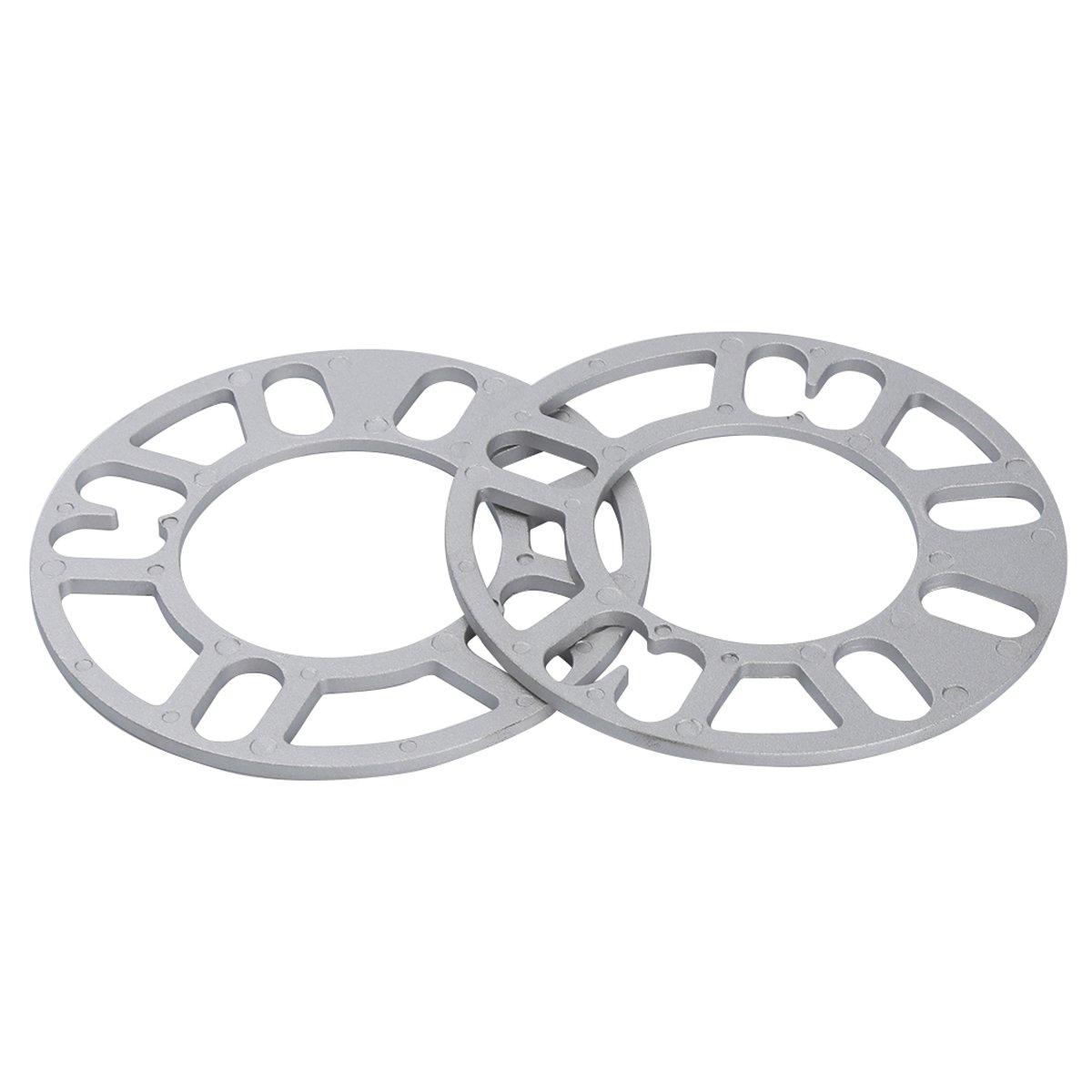 5mm Universal Wheel Spacers for 4 and 5 Lug, Hub 78mm 2pc Dynofit 4x4.5 5x4.5 WHEEL SPACERS for 98-12 PCD, Jeep Nissan Honda Toyota Lexus Acura Infiniti 350z 370z G35 37 Wrangler XJ JK WJ Civic
