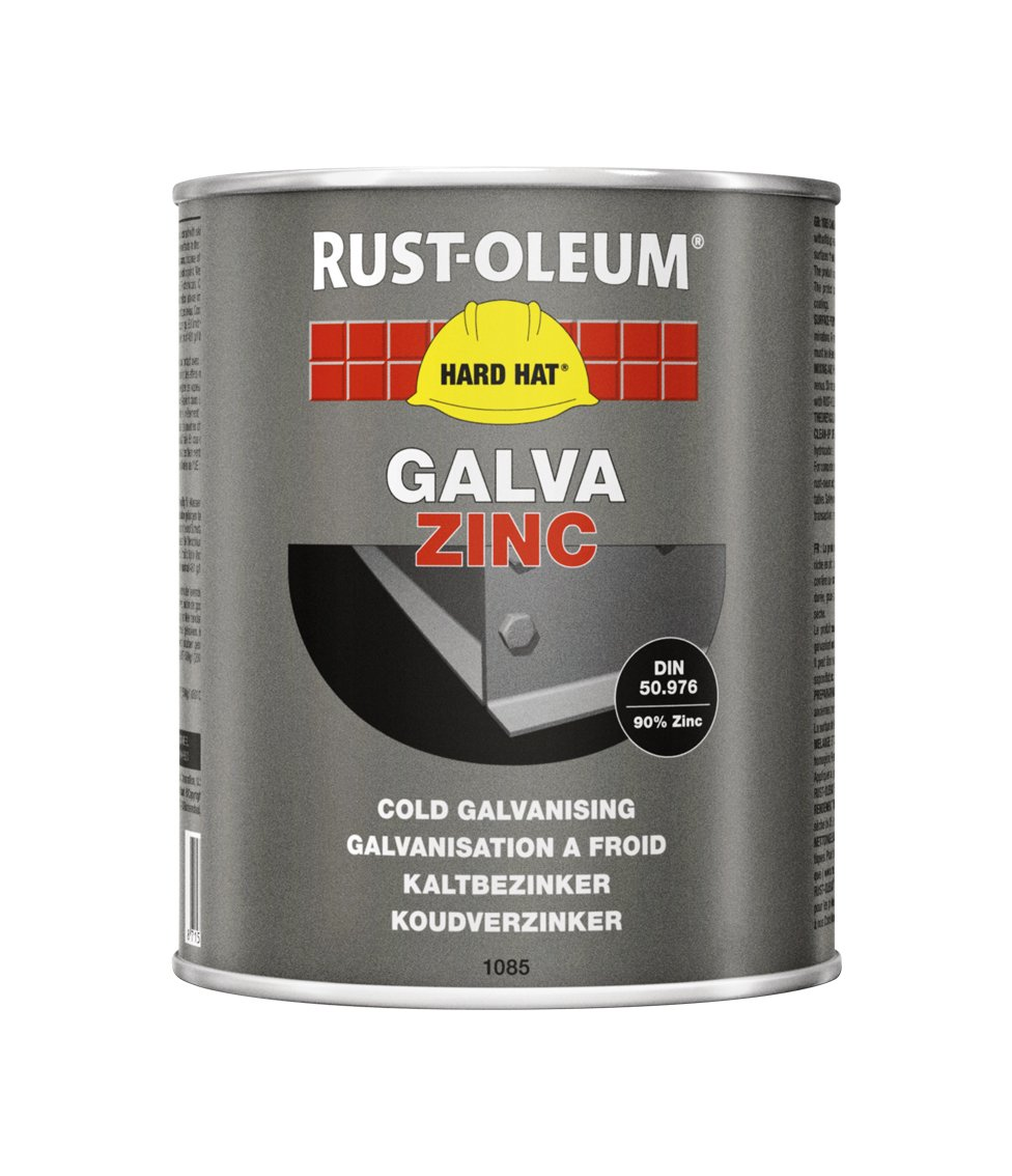 RUST-OLEUM 2120 Hard Hat Galva Plus, Zinc Gloss Renewal, Aluminium