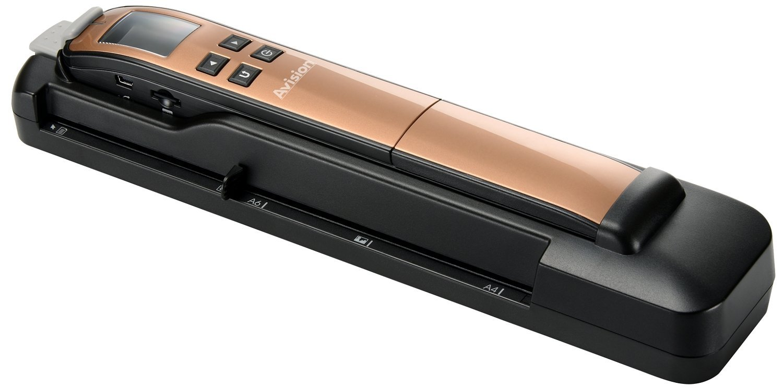 Avision Miwand2L PRO - Escá ner portá til (600 ppp, pantalla LCD de 4,5 cm/1,8', USB 2.0), color dorado (importado) 8 000-0765D-07G
