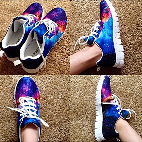 Flats Showudesigns Sneaker Running 4 Sport Walking Shoes Trainers Lightweight Women for Pineapple qzAwq7Ux