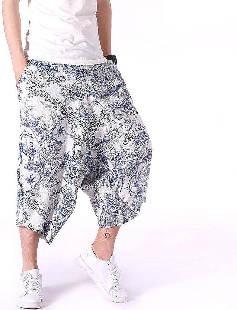 UFACE Pantaloni Casual da Uomo Pantaloncini Sportivi Spiaggia Allentati in Patchwork con Stampa Estiva Pant Larghi Stampati Atletica Abbigliamento Running Pantaloni Eleganti