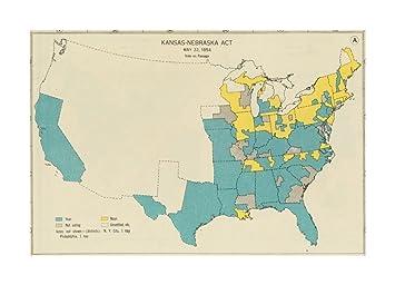 Amazon.com: 1932 Map United States Kansas-Nebraska Act, May 22, 1854 ...