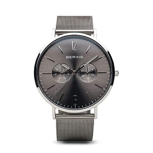 BERING Reloj Analógico para Hombre de Cuarzo con Correa en Acero Inoxidable 14240-308: Amazon.es: Relojes