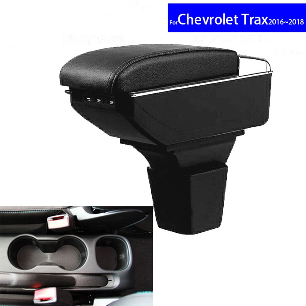 SZSS-CAR Leather Car Interior Parts Center Console Armrest Box for Chevrolet Trax 2016 2017 2018 Auto Armrests Storage with USB SHENZHENCHEVROLET