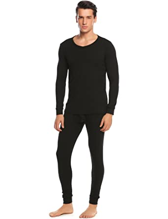 620aafd82 Goldenfox Thermal Underwear Set for Mens 2PC Plus Size Cotton Inner ...