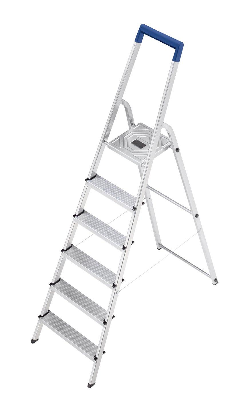 Hailo 8120-601 L20 150 kg Capacity Aluminium Stepladder (6 Steps)
