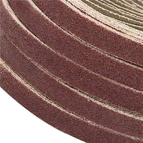 QUETAZHI ?Grinding and polishing of 50 10x330mm zirconia abrasive belts 40/60/80/120 grit alumina abrasives (size: 120#)