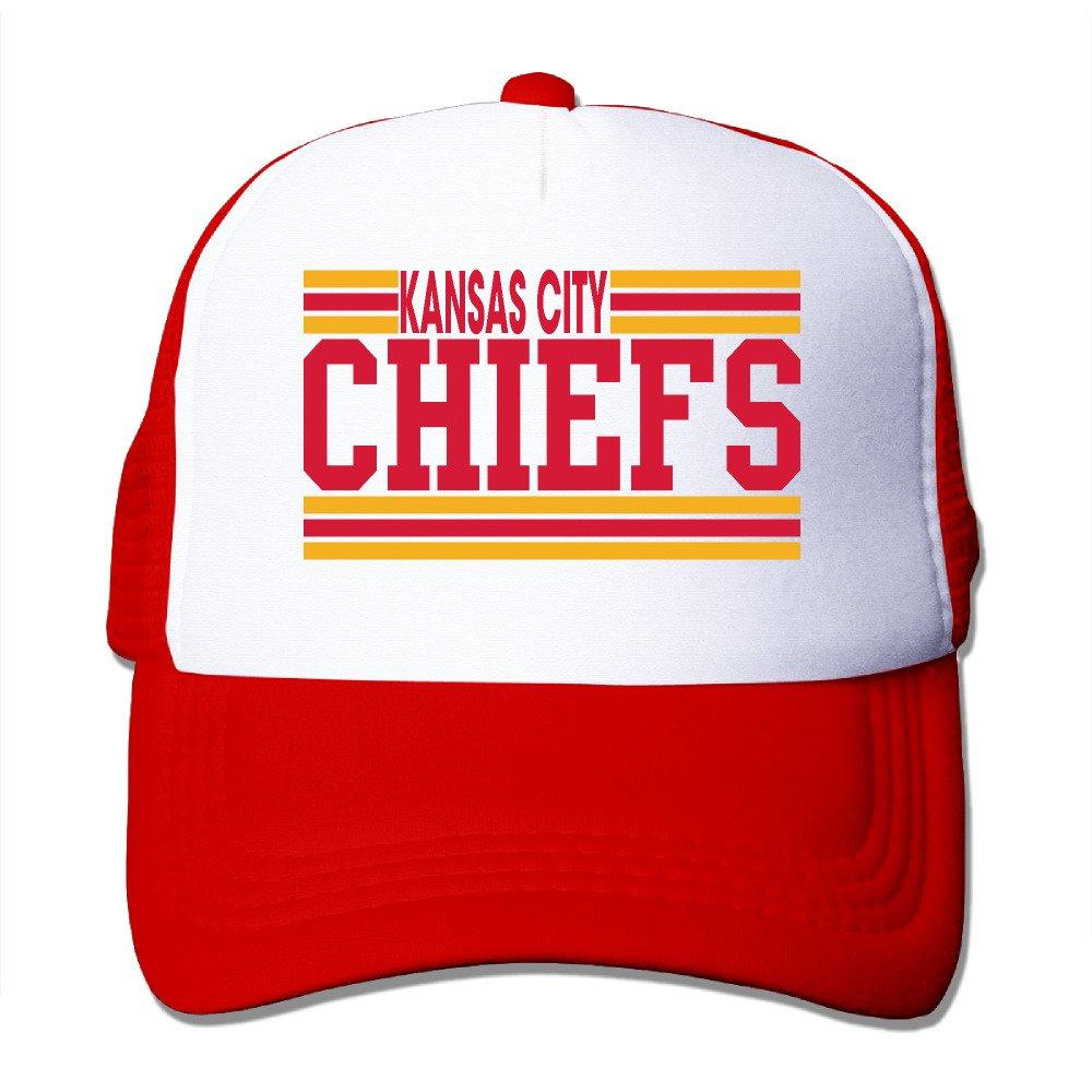 A-Joking Unisex Casual Baseball Cap Trucker Mesh Hat Adjustable - Kansas City Chiefs Black One Size