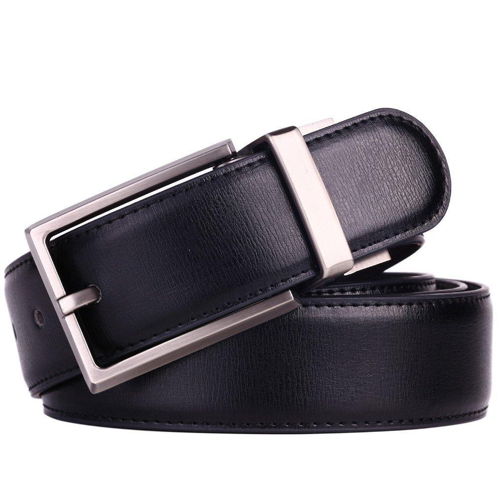Beltox Fine Men Dress Belt Leather Reversible 125 Wide Rotated Buckle Gift Box