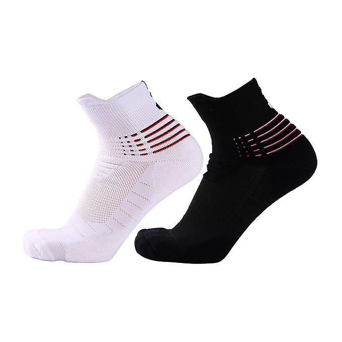 Zhhyltt Calcetines para Hombre Running Socks Calcetines Sneakers Invisible Antideslizante Casual Calcetines de Compresión para Hombres y Mujeres Non-Slip ...