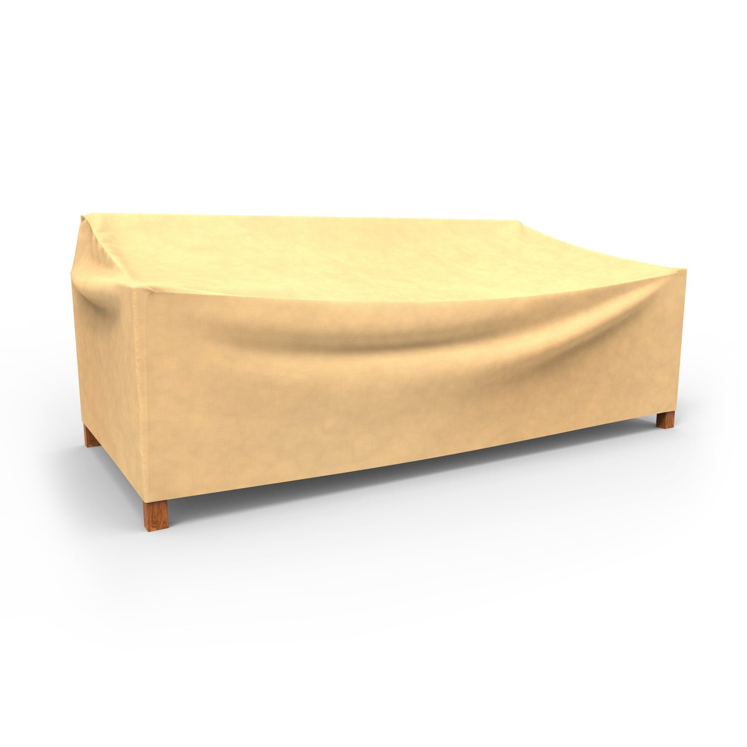 Budge All-Seasons Outdoor Patio Loveseat Cover, Extra Large (Tan) by Budge