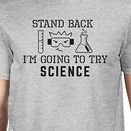 Camiseta corta Grey Printing para Science de Try nica Retroceso manga 365 Talla hombre IHg5Ocxxwq