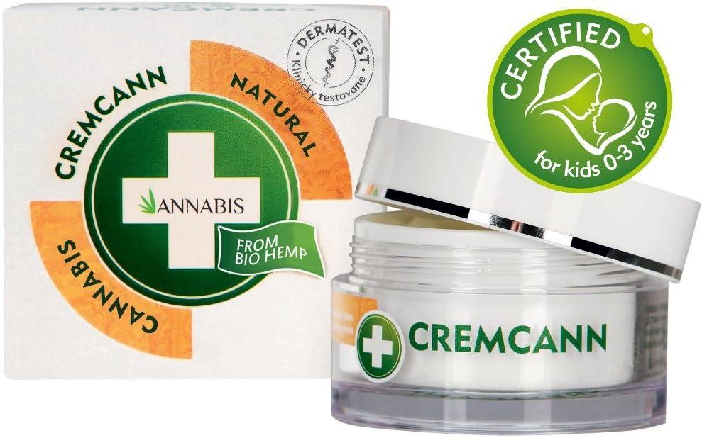 Annabis Cremcann Omega 3-6 – 50 ml – Crema regeneradora e hidratante ayuda con arrugas, eczema, psoriasis y acné – fabricado con omega 3 y 6 de cannabis sativa extracto de cáñamo.