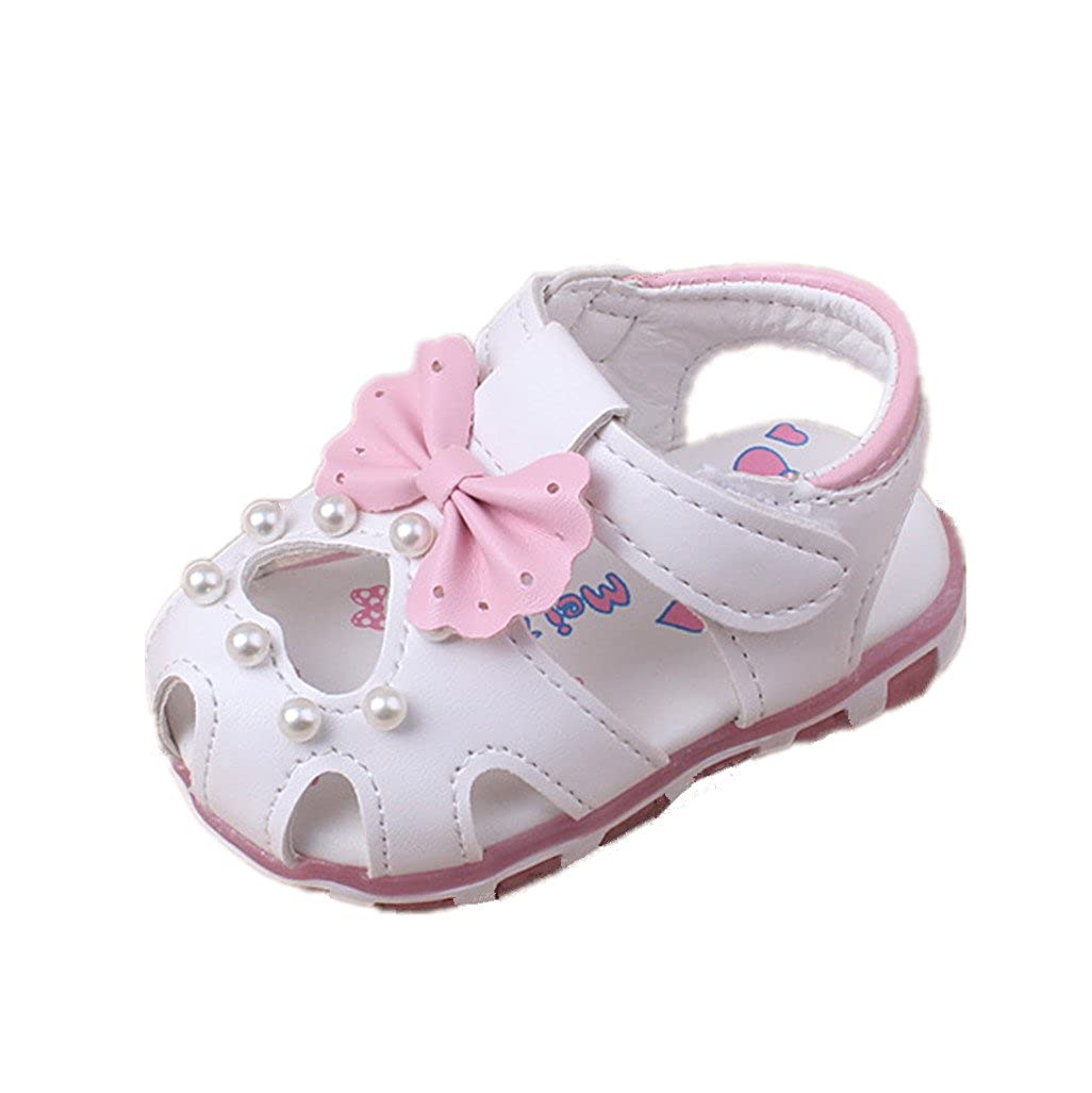 Auxma Prewalker Zapatos Las Sandalias Huecos de Las Flores de Los Bebé s Soft-Soled Princesa Calzan Los Zapatos del Verano de Firstwalker Iluminado