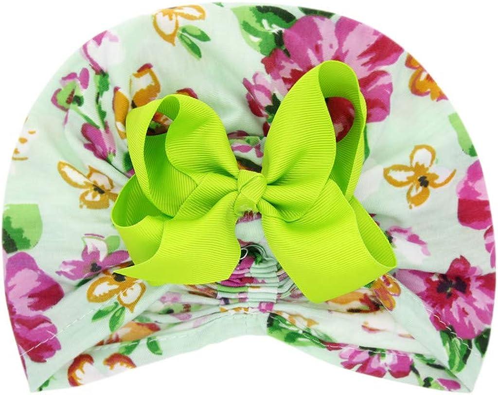 Toraway Newborn Baby Boys Girls Floral Bow Hat Beanie Headwear Cap Accessories for Baby