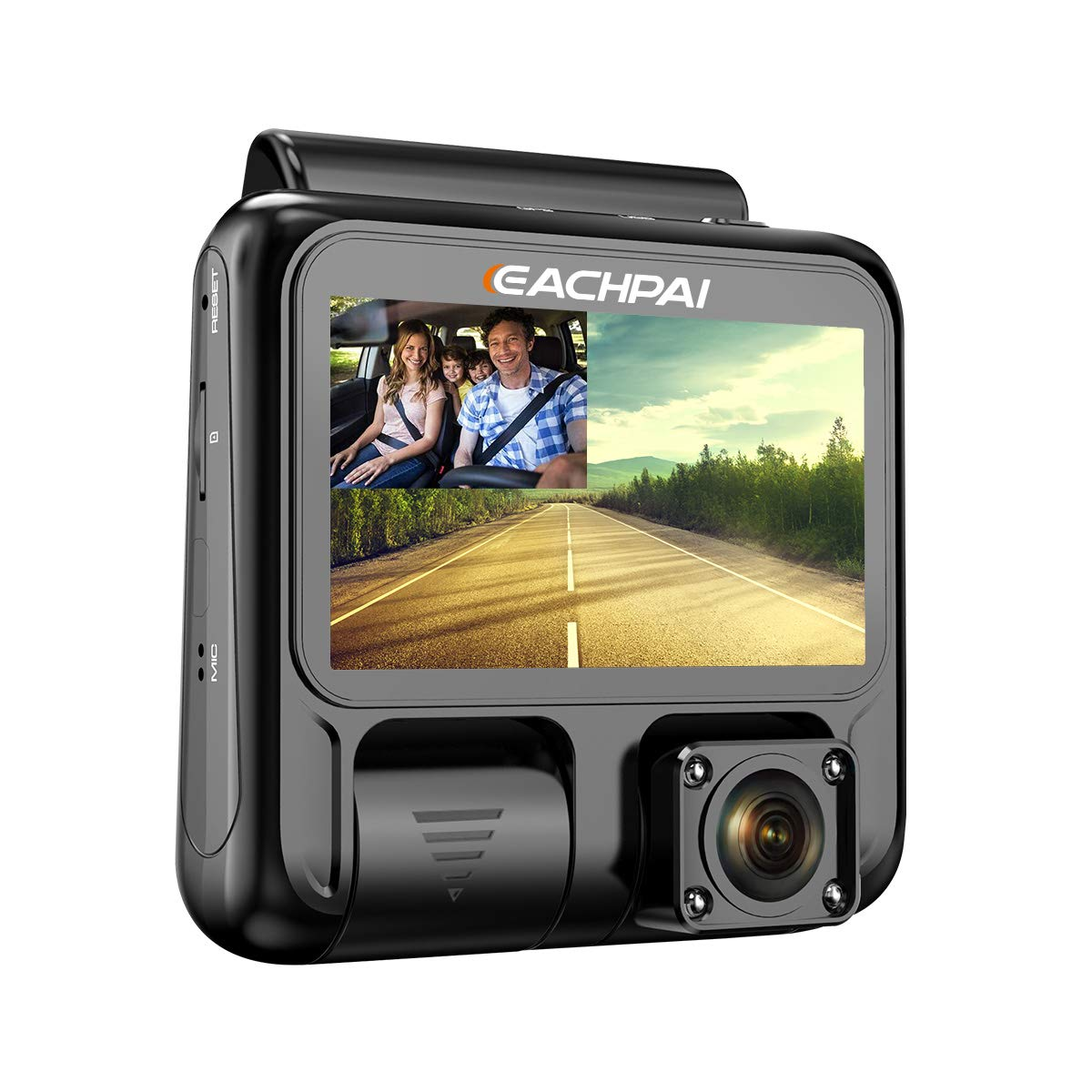 Dual Dash Cam Full HD 1920x1080P Inside and Outside Car Camera Dash Cams 3'' LCD with Super Capacitor, Sony Sensor, WDR, Super Night Vision, G-Sensor, Loop Recording, Motion Detection for Uber Lyft Ta