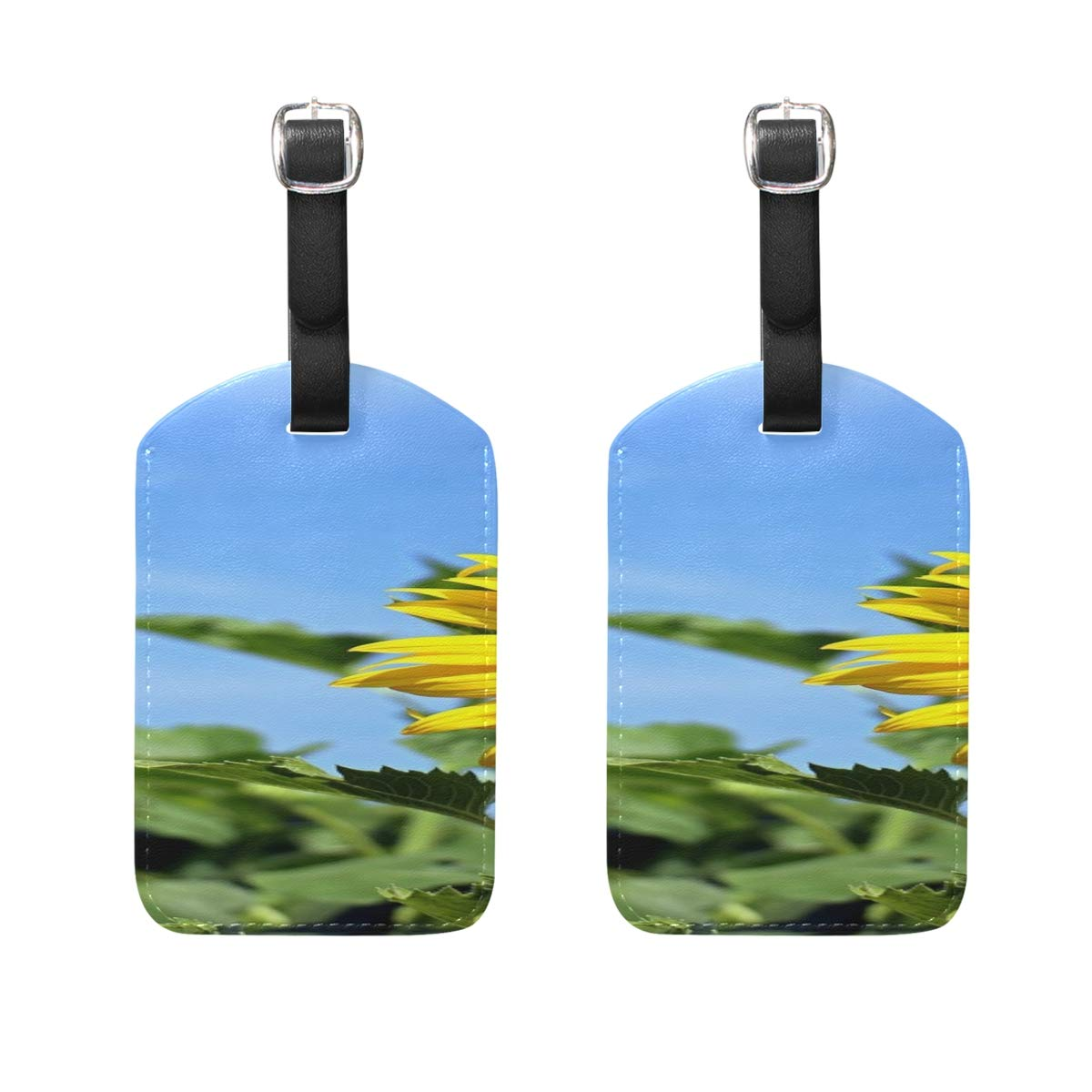 2 Pack Luggage Tags Kayak Fishing Silhouette Handbag Tag For Travel Tags Accessories
