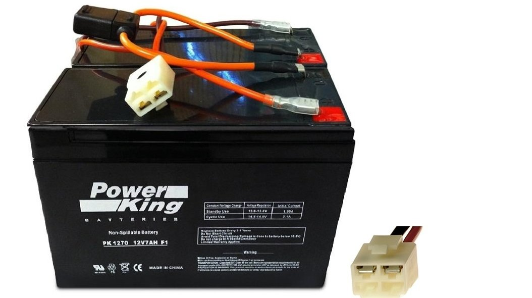 Razor Scooter Battery and New Wiring Harness 12 Volt 7Ah - Set of 2 Includes (6-DW-7) Beiter DC Power® by Beiter DC Power