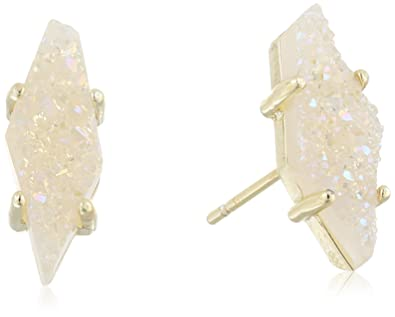 Amazoncom Kendra Scott Brook Gold Iridescent Drusy Stud Earrings