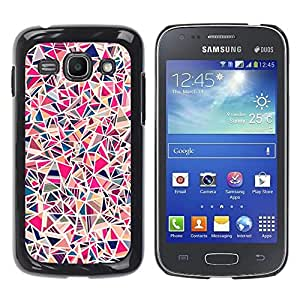 FECELL CITY // Duro Aluminio Pegatina PC Caso decorativo Funda Carcasa de Protección para Samsung Galaxy Ace 3 GT-S7270 GT-S7275 GT-S7272 // Tile Porcelain Pink Pattern