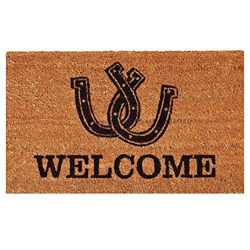 - Home & More 121721729 Horseshoe Welcome Doormat, 17