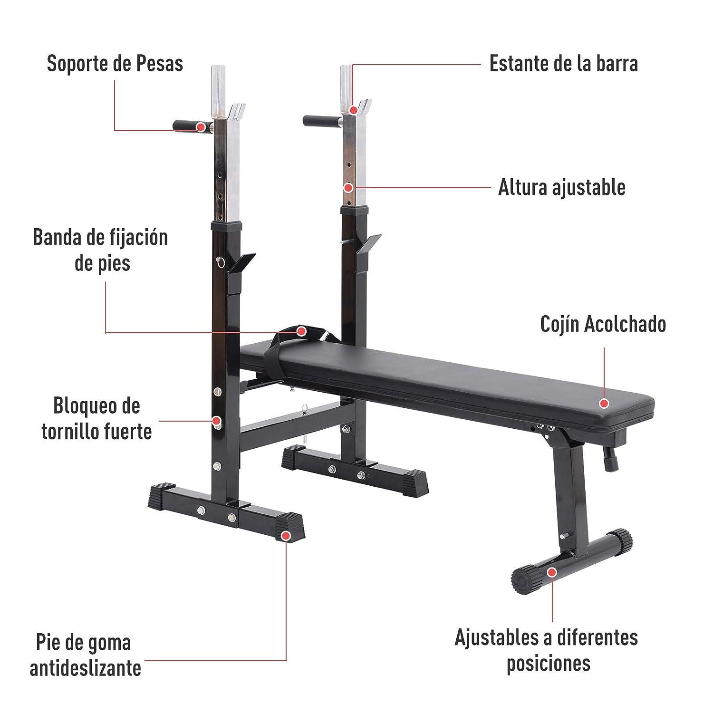 Banco de Pesas Plegable Bancos Musculacion Entrenamiento Maquina ...
