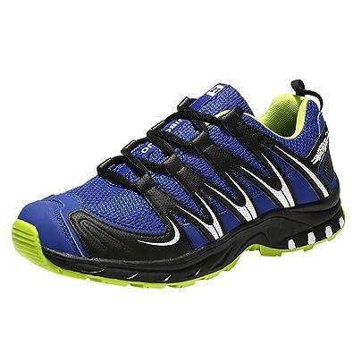 Logobeing Zapatillas de Senderismo Aire Libre Deportes Transpirable Senderismo Sneaker Antideslizante Amortiguación Caminar Calzado Deportivo (