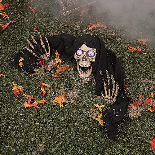 Fun Express - Led Skeleton Ground Breaker for Halloween - Home Decor - Outdoor - Yard Art - Halloween - 1 Piece