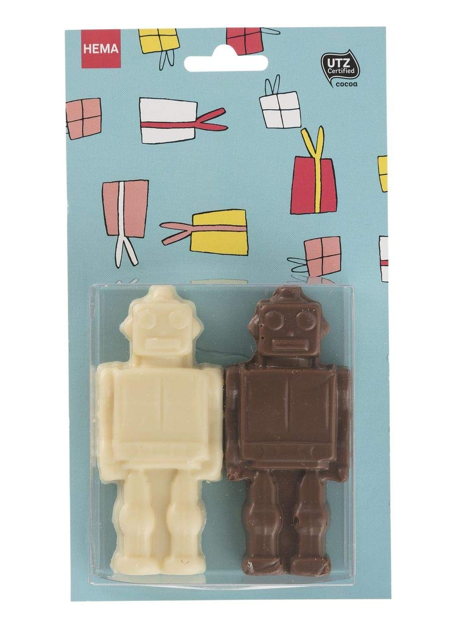 Amazon com : 2 Dutch Chocolate Robots ~ Valentines Day Gift