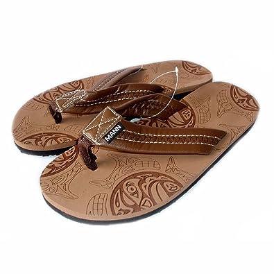 ca7f4792784f21 New Mens Shoes Slides Comfort FLIP Flops Thongs Beach Sandals 1832   Brown  (7)