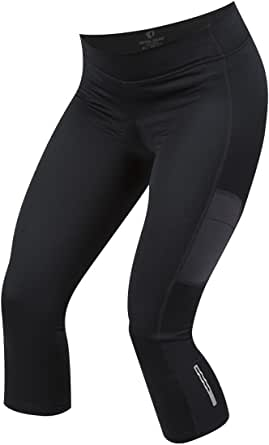 Pearl iZUMi W Sugar Thermal Cycling 3Qtr Tights, Black, Large