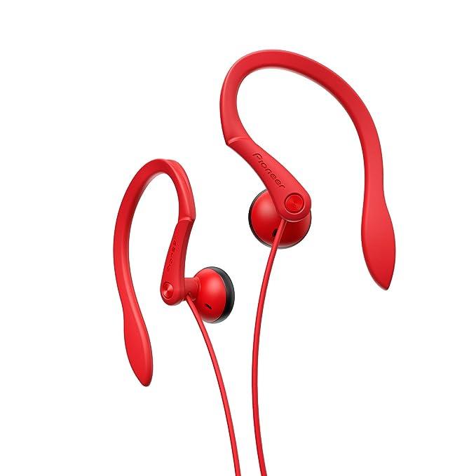 Pioneer SE-E511-R - Auriculares deportivos, rojo: Amazon.es ...