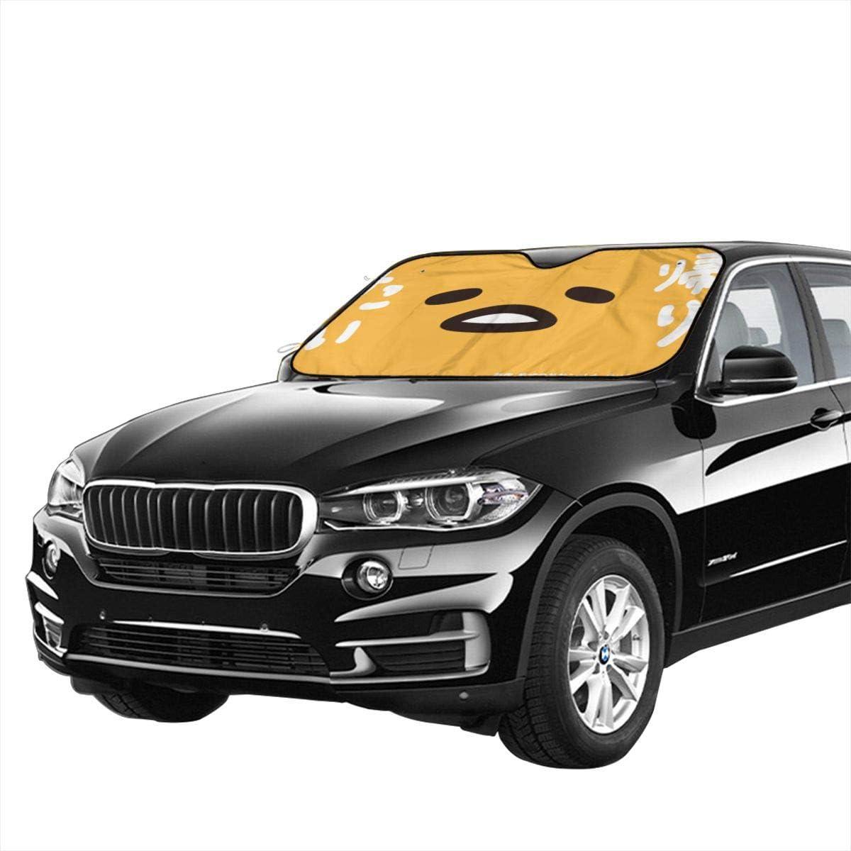 70 X 130cm Gudetama Large Foldable Car Sunshade 27.5 X 51 in Automotive Windshield Sun Blocker Visor Protector Shields Auto Keeps Vehicle Cooler for Car SUV Trucks