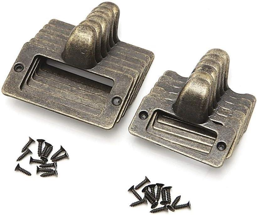 Color : Size L 6x gabinete tira identificador de archivo de la tarjeta conocida del gabinete portaetiquetas de lat/ón antiguo caj/ón extra/íble marco de hardware de los muebles de cajones manillas