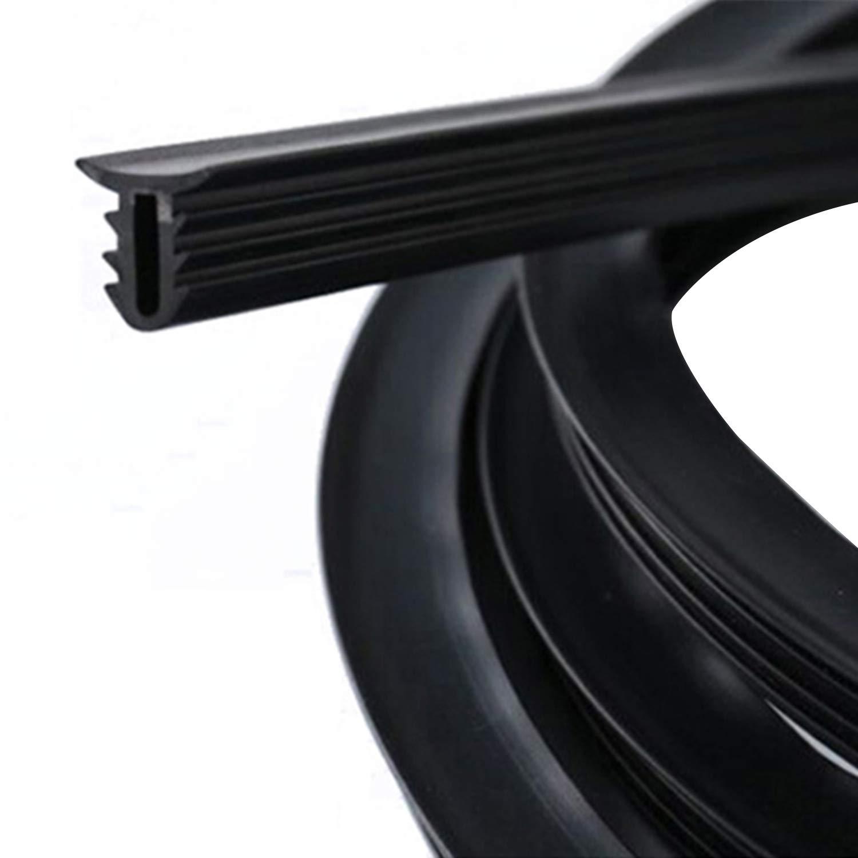 NCElec Rubber Soundproof Dustproof Sealing Strip Tape for Auto Car Dashboard Windshield 1.6M U Type