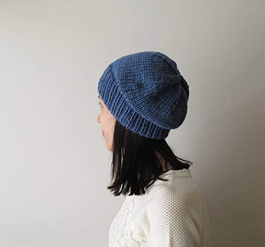 b0c144b0655 Amazon.com  Indigo Slouchy Hat