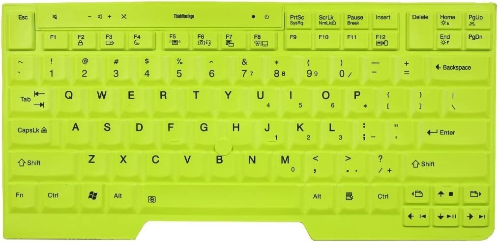 """BingoBuy Green Silicone Keyboard Protector Skin Cover for IBM Lenovo ThinkPad X220, X220t, X220s, X220i, T410, T410i, T410si, T420, T420s, T420i, T510, T510i, T520, T520i, W510, W520 (if your """"enter"""" key looks like """"7"""", our skin can't fit)"""