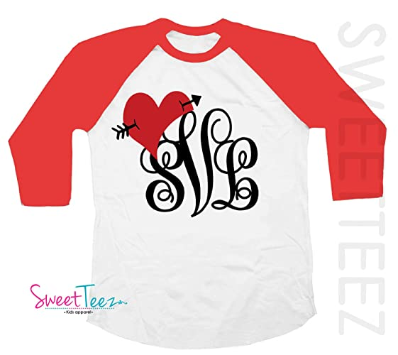 a3206c91cd Image Unavailable. Image not available for. Color: Monogram Shirt for Girls Valentine's  Day ...